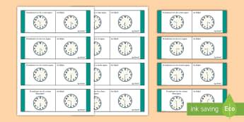 Time, Half Past Loop Cards-Irish - Requests - ROI, Time, an t-am, am, clock, clog, an chlog, half past, leathuair tar éis,Irish