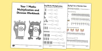 Year 1 Maths Multiplication and Division Workbook - year 1, maths, multiplication, division, workbook