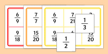Fractions Equivalent Bingo - fractions bingo, fraction, fractions, bingo, game, activity, equivalent, decimal, percentage, one whole, half, third, quarter, fifth, proportion, part, numerator, denominator, equivalent, 1/3, 1/2, 1/4