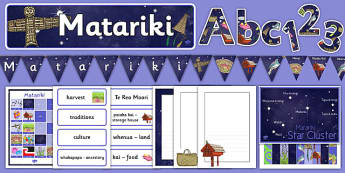 Matariki Display Pack - nz, new zealand, matariki, display pack, display, pack
