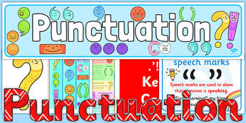 Punctuation Display Pack - punctuation, display, pack, ks2