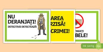 Jocul de rol: De-a detectivii, Afișe Romanian-Romanian