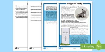 Greyfriars Bobby Differentiated Reading Comprehension Activity - CfE, Greyfriars Bobby, Scotland, Scottish, Skye terrier, loyalty, friendship, Edinburgh, tools for r