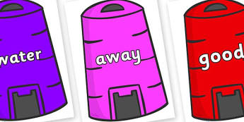 Next 200 Common Words on Recycling Bins - Next 200 Common Words on  - DfES Letters and Sounds, Letters and Sounds, Letters and sounds words, Common words, 200 common words