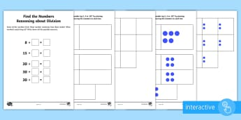 Year 2 Maths Reasoning About Division Homework Go Respond Activity Sheet - year 2, maths, homework, division, reasoning, finding all possibilities, worksheets, sharing, invers