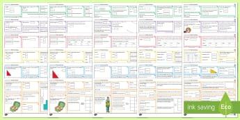 KS3/4 Half Term 1 Maths Activity Mats Resource Pack - Revision, Reinforcement, Number, Algebra, Proportion, Ratio, Probability, Statistics, Geometry.