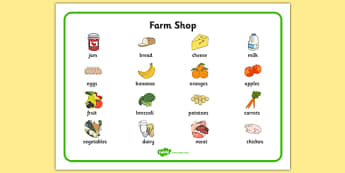 Farm Shop Word Mat - farm shop, farm, word mat, word, mat, words