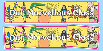 Our Marvellous Class Display Banner-Welsh