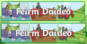 Meirge Taispeána: Feirm Daideo - meirge taispeana: feirm daideo, Grandad's Farm Display banner, scéal, story, scéalaíocht, storyt