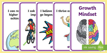 Growth Mindset Statement Display Posters - Classroom Set Up Pack - classroom set up, set up, class set up, austrailia, austrila, australua, aus