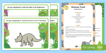 Dinosaurs Playdough Recipe and Mat Pack - Dinosaurs, reptiles, sensory, exploration, malleable, fine motor
