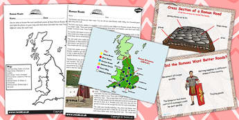 Roman Roads Task Setter and Comprehension Flipchart Activity Pack
