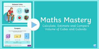 Year 6 Measurement Volume of Cubes and Cuboids Maths Mastery Activities PowerPoint