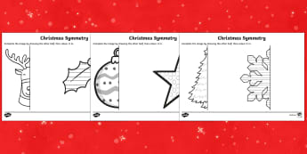 Christmas Themed Symmetrical Activity Sheets