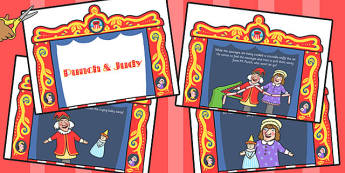 Punch and Judy Story Cards - story, cards, punch, judy, theatre
