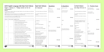 AQA P1 Reading Booklet (3) Mini Exam Pack - AQA P1 Reading Booklet, paper one, exam preparation, revision.