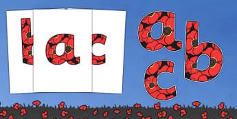 Remembrance Day Themed A4 Display Lettering-remembrance day, themed, A4, display, lettering, display lettering, A4 lettering, history, ww1