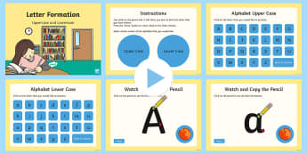 Australian Upper and Lowercase Letter Formation  PowerPoint - Upper Case and Lower Case Letter Formation PowerPoint - handwriting, pencil control, fine, motor, sk