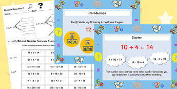 Deriving Multiplication and Division Facts Differentiated Lesson Teaching Pack - multiplication, division, numeracy, powerpoint, task setter