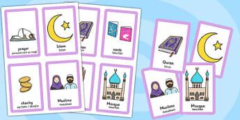 Eid Pairs Matching Game Romanian Translation - romanian, eid, pairs, matching game