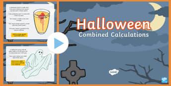 UKS2 Combined Calculations Halloween PowerPoint