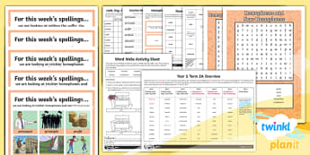 PlanIt Y5 Term 2A Bumper Spelling Pack - Spellings Year 5, spellings, weekly, bumper, pack, assessment, dictation, list, SPaG, GPS, Mr Whoops