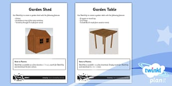 PlanIt - Computing Year 5 - 3D Modelling SketchUp Unit Home Learning Tasks - planit, computing