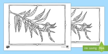 Eucalyptus Mindfulness Colouring Page - English (Australian)-Australia - Australian Mindfulness Colouring, ,Australia, Mindfulness Colouring, anxiety and stress, stress, pas