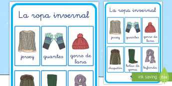 Póster: El vocabulario de invierno - decoraación de la clase, mural, decorar, invernal, invierno, vocabulario, palabras claves,Spanish