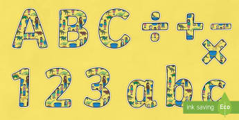 Themed A4 Display Lettering to Support Teaching on Harry and the Bucketful of Dinosaurs