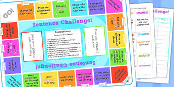 Complex Sentences Challenge Game - game, challenge, complex sentences, sentences, sentence game, complex sentence game, games, challenge game, activity, fun