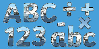 Arctic Animals Habitat Themed Display Letters and Numbers Pack - arctic animals, habitat, display lettering, display, lettering, science lettering, science display, science display lettering