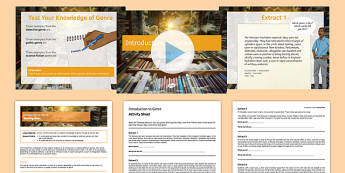 Introduction to Genre Lesson Pack - introduction to genre, lesson pack, lesson, pack, introduction, genre