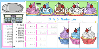 Five Cupcakes Display Pack - nz, new zealand, five cupcakes, display pack
