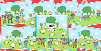 The Boy Who Cried Wolf Story Sequencing Cards - stories, story