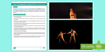 Duet Choreography Activity Cards - Dance Toolbox, dance, contact work, duets, choreography,