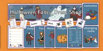 Halloween Fancy Dress Shop Role Play Pack - halloween, fancy dress, role play, role play pack, fancy dress role play, resource pack, pack of resources