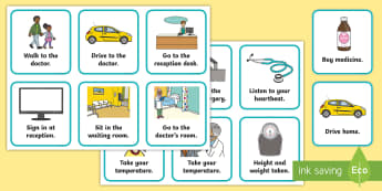 Going to the Doctor Visual Routine Cards - daily routine, doctors appointment, going to the doctor, visual timetable, doctors surgery
