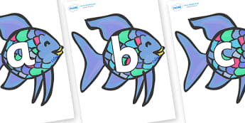 Phoneme Set on Rainbow Fish (Under the Sea) to Support Teaching on The Rainbow Fish - Phoneme set, phonemes, phoneme, Letters and Sounds, DfES, display, Phase 1, Phase 2, Phase 3, Phase 5, Foundation, Literacy