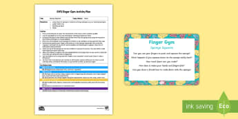 EYFS Sponge Squeeze Finger Gym Plan and Prompt Card Pack - EYFS Water, water cycle, rain, rivers, sea, oceans sponges, bubbles, foam, hand and finger muscles,
