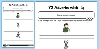 Adverbs Application Activity Sheet - GPS, spelling, grammar, suffix, ly, adverbs, worksheet