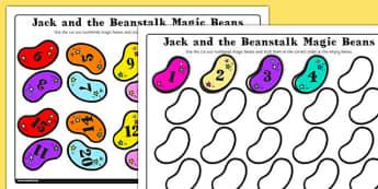 Jack and the Beanstalk Magic Bean Number Ordering 1-20 - jack
