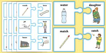 Rhyming Words On Matching Jigsaw Pieces - jigsaw, game, activity, jigsaw rhyme game, matching, matching rhyming game, jigsaw rhyming game, rhyming activity, rhyming words activity, rhyming words jigsaw game