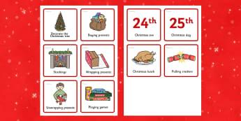Christmas Visual Timetable - timetables, festivities, celebrate