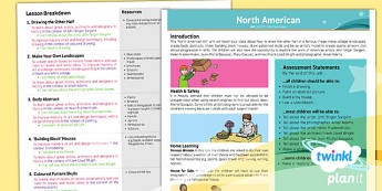PlanIt - Art UKS2 - North American Art Planning Overview - planit, art, unit