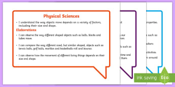 Australian Curriculum Science Understandings Foundation Year Speech Bubbles Assessment Pack - Australian Curriculum science, Australian assessment, I can, WALT, TIB, prep, reception, Australia