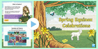 Easter Spring Equinox Festivals PowerPoint - KS2 Easter, Easter, Eostre, Ostara, wheel of the year, pagan, pagans, wicca, wiccan, witch, magic, n