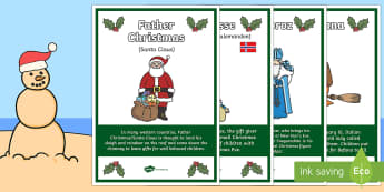 Gift Givers Around the World A4 Display Poster-Australia