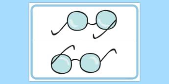 Glasses Table Sign - Wearing Glasses,glasses, wear, reminder, prompt, sign, remind, remember