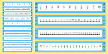 Number Lines to Support Teaching on The Very Hungry Caterpillar - the very hungry caterpillar, number lines, 0-10, 0-10 lines, counting aid, counting, number, number strips